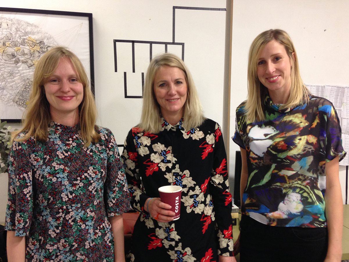 Jac Burns with Same Eades and Emma Smith from Orion and Trapeze publishing at the London Writers Club 1
