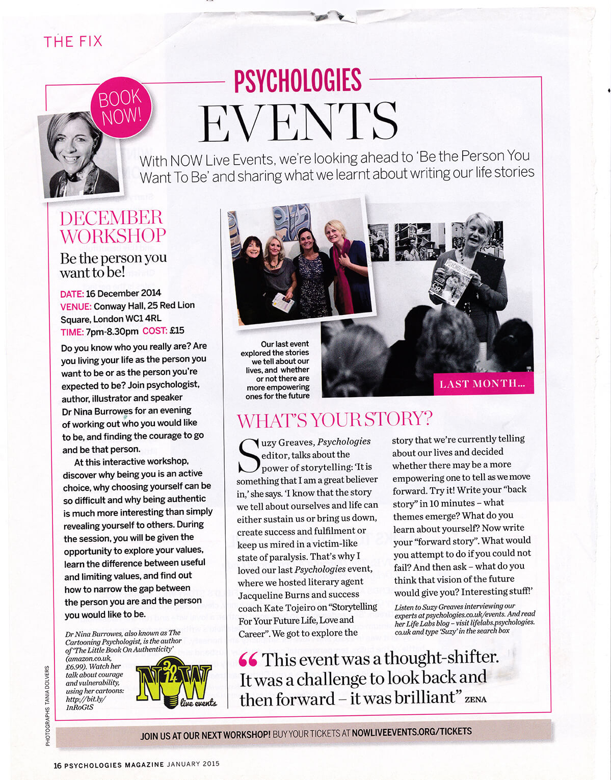 psychologies feature for London Writers Club sm